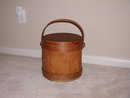 Large Early American Firkin/Am.Sugar Bucket