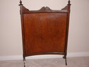 Antique Oak Fireplace Screen