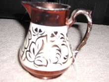 Antique English Copper Lusterware Pitcher