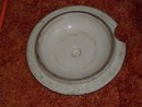 Early REDWING __U.S.A. __possible to use on  Medalta Stoneware Pottery LID for 1 Gallon Crock _ as found_ unusual pattern _Shipping in Canada $17.99