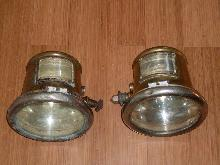 YOU FOUND IT, RIGHT HERE _ Rare Find _PAIR of  Circa 1913 _1914 _1915 Solid Brass CADILLAC Cowl Lamps  Signed: Gray Davis curved Dome Glass and Curved Bevelled Glass on Side Beautiful Design