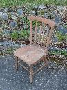 Circa 1920 Set of 2 Children's chairs _pic shows 4 all hardwood_heavy construction _probably made of ash
