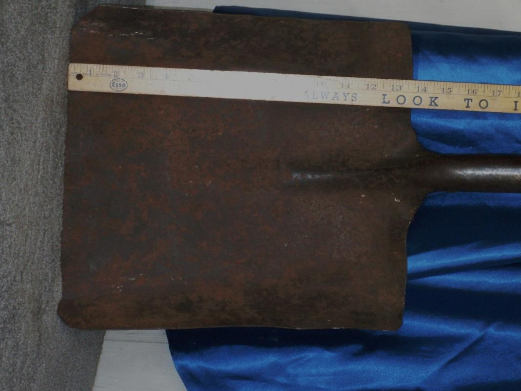 Antique COAL MINER'S Shovel with D shaped Wooden Handle _Shovel STAMPED T_ coal mining