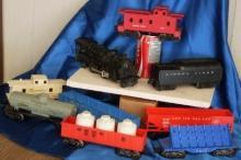 1950's 60's LIONEL SET & MARX Railroad TRAIN LOT Railway w/Metal Tunnel/Track/EL Transformer/6RR Magz TESTED WORKING