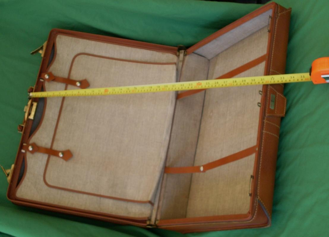 1950's-60's RED CAP ALL GENUINE LEATHER LUGGAGE Bag Suitcase