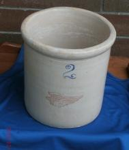 Beautiful Early 2 MARK vs 3 mark RED WING Stoneware 2 GALLON CROCK & useful RARE Petal Red Wing 1 Gallon Lid