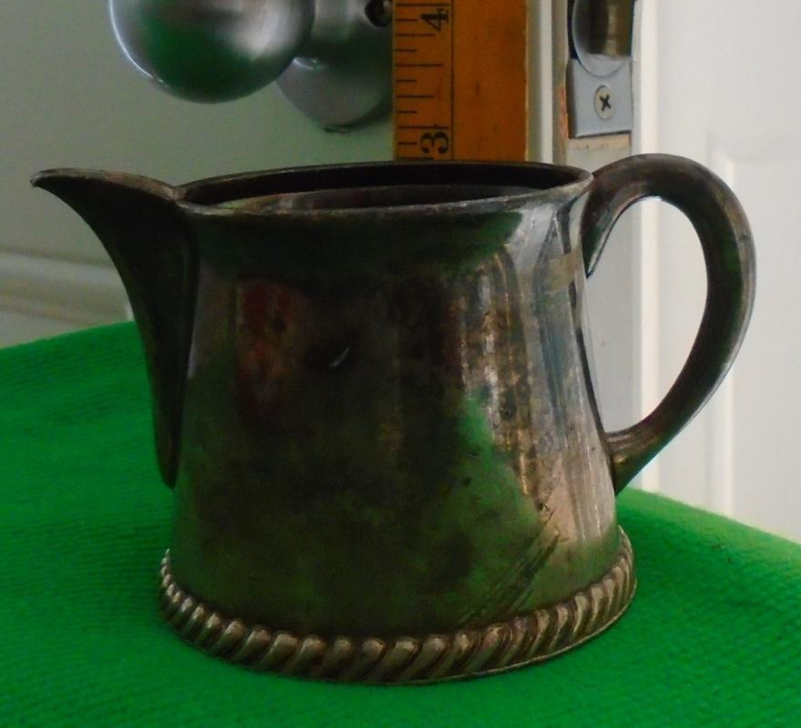 USA HISTORICAL ARTIFACT _ N.W.S.S. NORTH WESTERN STEAM SHIP Co. _ Silver Creamer _Circa 1894