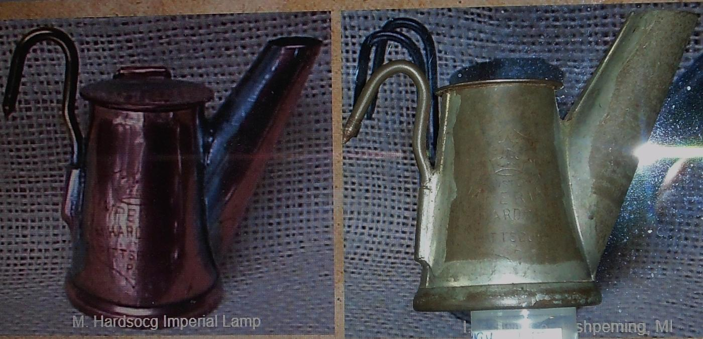 Antique Coal Miner's Hat Lamp ~ Beauty of this Very Fine Tinware Miner's Lamp. Circa 1890's. From the Era of Robert Dunsmuir COAL BARON  Vancouver Island ~ Collectors Grade 9/10 _Stamped: IMPERIAL _M.HARDSOCG Pittsburgh PA