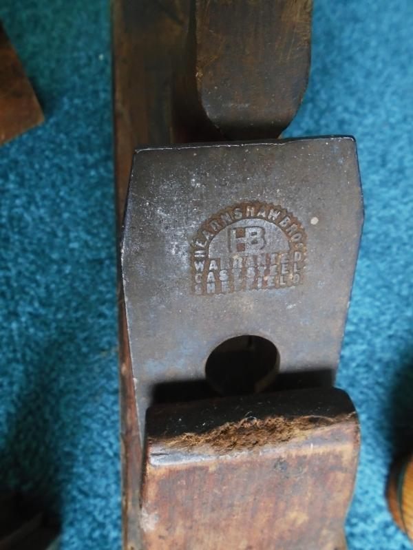 c1860s_RARE FIND  #1 G.BERRY TOTTENHAM COURT Rd BLADE Hearnshaw Bros. SHEFFIELD #2 John Moseley & Sons #3 A. MATHIESON WOODEN BLOCK MOLDING PLANE