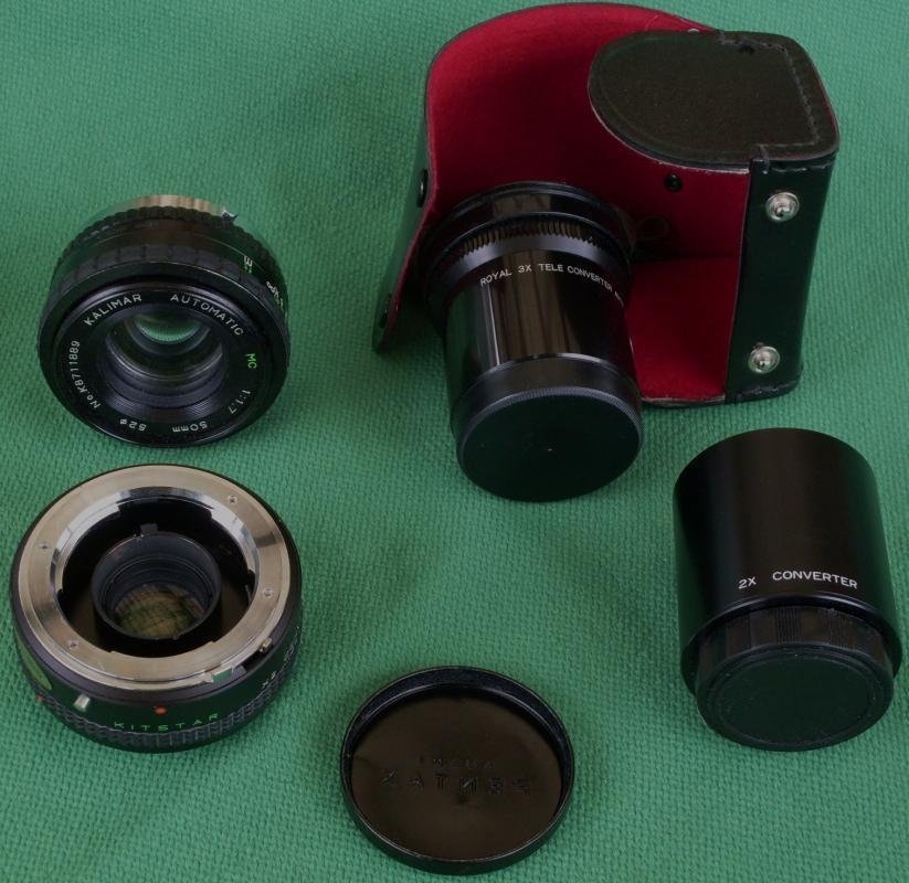 Vintage_NOS _ Lot of 35mm Camera Lens_ KITSTAR 2X Converter _ 3x TELE etc. View Pictures