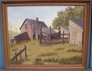 ORIGINAL ART_old Canada Country Original Oil Painting Circa 1960 Signed R.G. POWELL in Excellent Condition. Canadian Farm Scene.