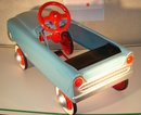 A BEAUTIFUL Birthday GIFT _Child's Toy Pedal Car Steel Body ORIGINAL RUBBER TIRES and Rubber Pedals Restored Makes Beautiful Gift  Way Finished OR ADD NEW DECALS to Create BABY T-BIRD