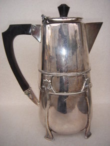 Art Nouveou SILVER Hot Water Pot ~~  Hallmarked  ~~ Very Good Condition