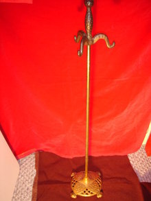 Old Authentic CAST IRON Fireplace Companion Holder 1915 Era _ARTS N CRAFTS_ from Nanaimo B.C. Canada  Heritage Home