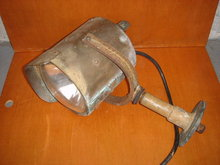 NAUTICAL OLD MARITIME Ships Spotlight  / LAMP -  British Columbia Historical item - Note the Skill of Metalsmith in Custom Making this Solid Brass Spotlight -Rivet Construction made for Large Ship