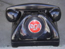 COLLECTIBLE ~ RCA Advertising Logo on VERY VERY VERY RARE Non-Dial DIRECTLINE PHONE  ~~ HEAVY  6 1/2 LBS  Steel Body + Bakelite Receiver