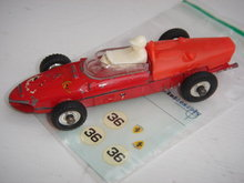 DINKY TOY RACING CAR RED #36 with Brand New Parts to complete Restoration. SHIPPING $8.20 US AirMail to USA