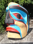 VINTAGE North American 1st Nations NORTHWEST COAST SALISH Hand-Carved MASK signed: Stan Good ~ LARGE ~ 19 Inch Circumference size  Examined by Jackson Robertson Well Known Carver