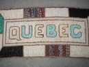 Old CANADA Country Antique Collectible  CANADIANA 1920's QUEBEC Hand Hooked Rug _ 34 Inches Wide