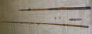 Nautical ANTIQUE  FISHING ROD Circa 1853-1880  Size 9 Ft. 9 Inches LONG _features RED Agate Eyelets_spare parts included