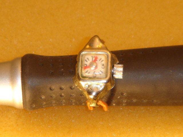 Dolls Collectible 1950 era TINY Ladies Japan Watch with Original Elastic Watch Band. Very Hard to Find.
