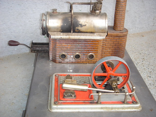 COMPARE @ $3,500.__ Our Low , Low Price $395.00 ~ Antique Toys EARLY TOY STEAM ENGINE Germany for age in Very Good Condition. Copper Chimney. Large size.