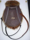 SPORRAN,FULL MASK Muskrat  ~ from MacGregor ESTATE ~  ULTIMATE in Evening Wear ~Leather Strap with Chain Also FULL GUSSET that is spacious _ Excellent Condition