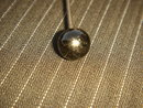 Antique Black Glass HAT PIN ~ Circa 1890's~