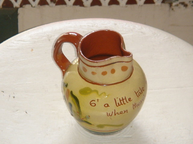 Antique Torquay Pottery CREAM JUG Motto Ware 1910-1920's