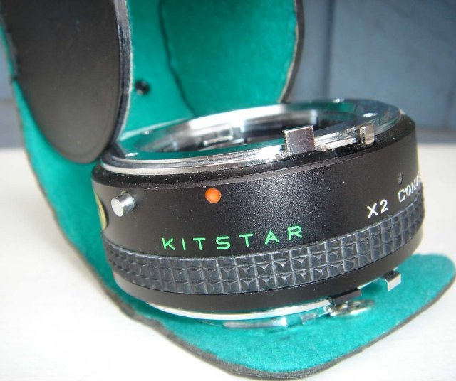 Collectible Vintage NEW old Stock  2X Tel Converter Brand Name KITSTAR fits Minolta Manual Focus