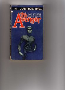 Collectible Paperback Pocketbook by Kenneth Robeson #1 JUSTICE, INC. The Avenger