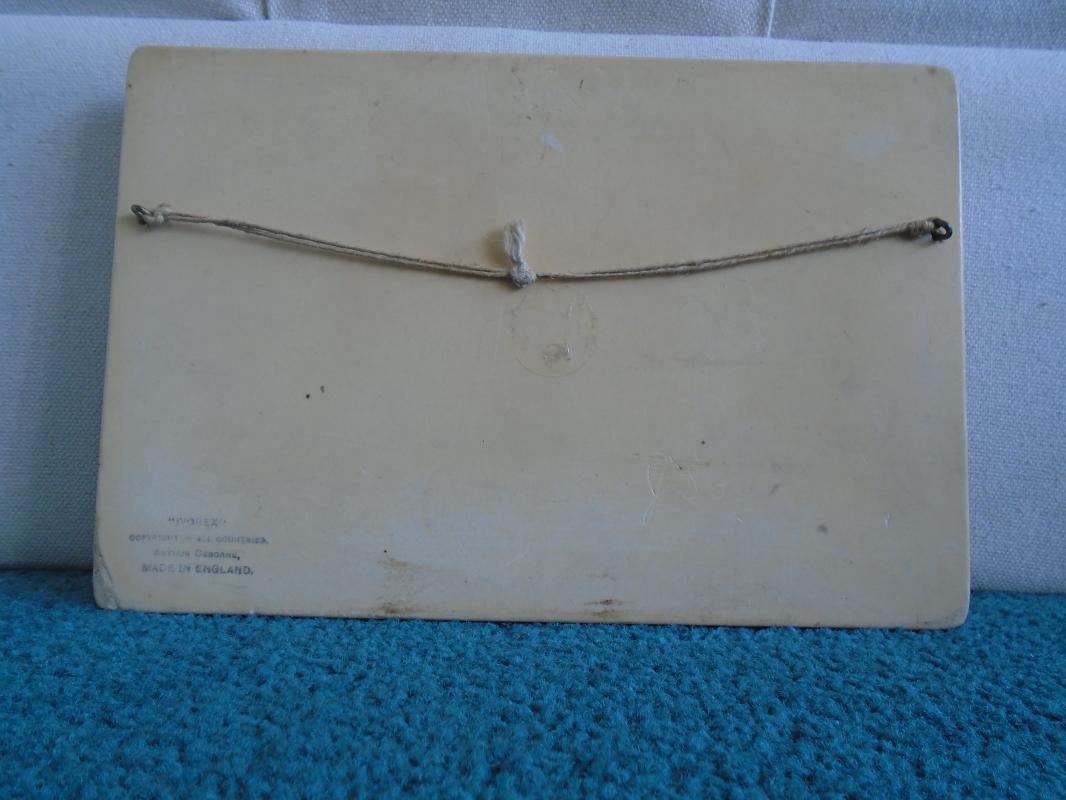 old Ivorex plaque,