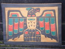 ORIGINAL ART Genuine Native American Indian CARVING in Cedarwood.~ THUNDERBIRD ~ Signed by Artists Bill + April Martin Neabay, Washington USA
