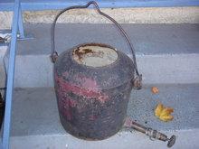 ANTIQUE CAST IRON Pot with 8