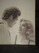 VINTAGE  old JAMES DEAN & Marilyn Monroe POSTER ON Board  ~ Copyright ~  Signed