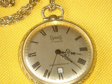Beautiful Gold Style LADIES DYNASTY Pendant Watch. 17 Jewels ~ Shockprotected ~ SWISS MADE  ~ MECHANICAL WIND-UP