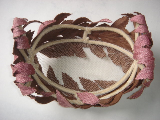 VINTAGE LADIES Spring or Summer HAT  ~ Dusty Rose Color  ~ Size 12 Inches x 6 Inches.