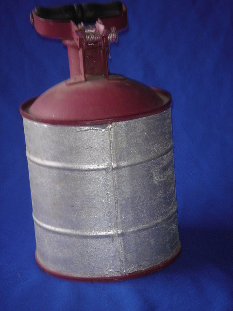 RARE FIND !!! Converted fire extingisher Made for HARLEY-DAVIDSON Motorbikes during WW11 STEMPEL  St. Louis Mo U.S.A. Galvanized Steel /  Oil / Gas Can ~NO SALES TAXES to USA + NO SALES TAXES to CANADA  SAVING $$$ RIGHT AWAY