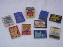 Collection of 10  Vintage Matchbook Covers Only _ Circa 1940's