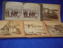 Circa 1900  ~ B.W. Kilburn Littleton, NH JAMES M. DAVIS + Underwood & Underwood STEREOVIEW CARDS   ~  FIVE CARDS Boer War  / Canadian Fighters