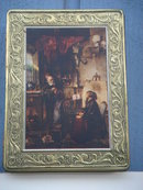 Collectible Famous Art Scene on Italian Tin __in nice clean condition __Size 7 1/4 Inch Wide x 10