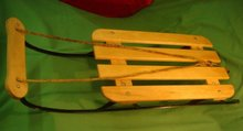 Vintage QUALITY MADE Classic Racer / Childs Sled __Made in Canada __in Excellent Condition__HARDWOOD + Iron Frame _SUPER STRONG _Bolted Each Piece