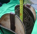 COMPARE at $500.00 _as New  Western COWBOY BOOTS __in the Style of LAREDO Brand with Brass Tipped Toes__IGUANA LIZARD on feet Combined Leather Uppers__as new __Pair__Men's Size 8 1/2  NO SALES TAXES  to USA + NO SALES TAXES to CANADA SAVINGS RIGHT NOW