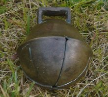 A Birthday GIFT _Antique Circa 1837-1901 Swedish SANTA'S Sleigh Bell _look carefully at angle appears a makers X mark _Gentle ringing tone