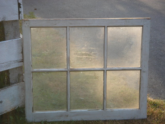 Architectural / Garden / Primitive B.C. Douglas Fir Wood 6 PANE Window