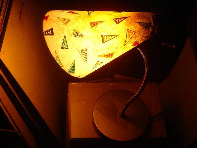 College Sports Vintage Goose Neck __Gooseneck __School DESK Lamp with Famous U.S.A. College Names eg. Stanford, UCLA, Berkley etc.