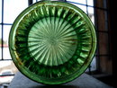 Northwood CARNIVAL GLASS Fluted 10 1/2 Inch Tall _FLUTED + RIBBED Pattern _Vase _Green Gold Tones