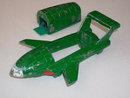 Toys _DINKY TOY__ Thunderbird 2 __Meccano  Ltd. England __Original Green... the nice color__Slides across floor on Steel Rollers __Shipping in Canada $12.63