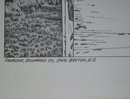 old Print and a Wonderful Nautical Theme from Canada's East Coast Province Nova Scotia _signed T.T. Tibbetts _Collectible