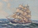 BEAUTIFUL _old Prints Collectible NAUTICAL Tallship + Sailboats theme _Size 14